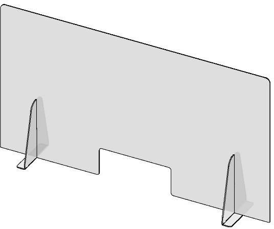 Counter Top Barrier With Pass-Thru